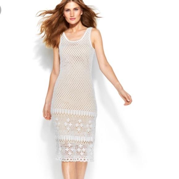 079ee010075fc MICHAEL Michael Kors Dresses | Michael Kors Crochet White Sleeveless ...